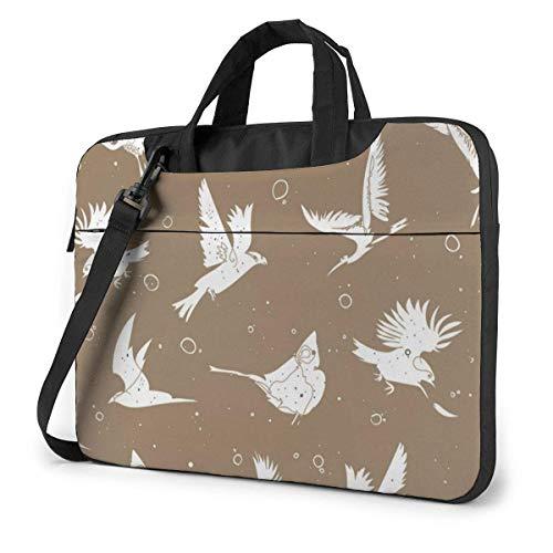 Artistic Single Laptop Sleeve Case 15.6 Inch Computer Tote Bag Shoulder Messenger Briefcase for Business Travel