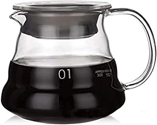 "Viden 360ml #1 V60""Clear"" Heat Resistant Glass Range Coffee Server | Pour Over Coffee Tea Server | Pot Carafe Hand Drip Co..."