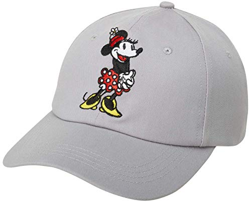 Disney Women's Minnie Mouse Hat –Baseball Cap, Mom Hat, Size One Size, Minnie Mouse Grey