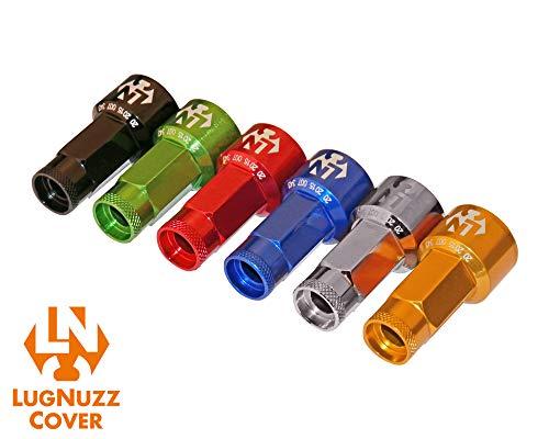 Foliatec 37205 LugNuzzCover 20er Set, Schlüsselweite, Schwarz / Chrom Eloxiert, 17 mm