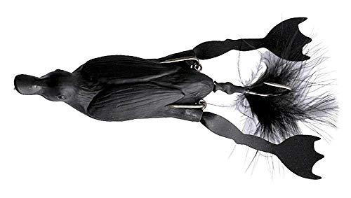 Savage Gear The Fruck 3D Hollow Duckling - Enten Gummiköder zum Spinnfischen auf Hecht, Oberflächenköder zum Hechtangeln, Wobbler, Farbe:Black;Länge/Gewicht:10cm - 40g