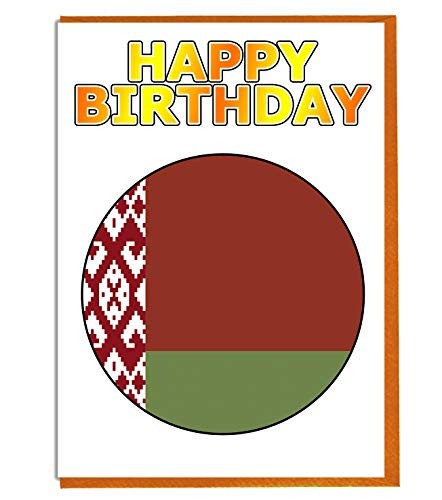 Wit-Russische vlag - Verjaardagskaart - Vriend - Familie - Collega - Mate - Boss - Loved One