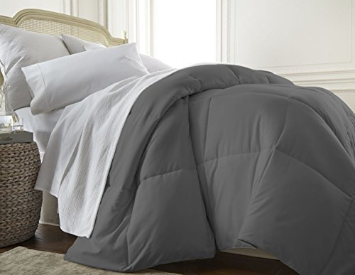 ienjoy Home Collection Down Alternative Premium Ultra Soft Plush Comforter, Queen, Gray