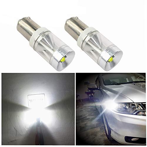 Wljh 2 x CANBUS 500LM 9 W sans erreur BA9S T4 W éclairage LED Intérieur de voiture libre de stationnement sauvegarde de plaque d'immatriculation Indicateur Lumière du jour