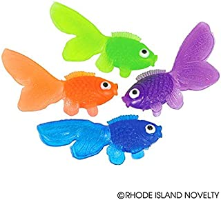 Rhode Island Novelty 1 3/4 Inch Vinyl Goldfish 144 Pieces Assorted Colors