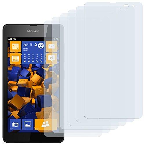 mumbi Schutzfolie kompatibel mit Microsoft Lumia 535 Folie klar, Bildschirmschutzfolie (6X)