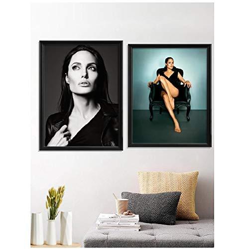 Yxjj1 Angelina Jolie Beauty Sexy precioso vestido bien formado bikini Pure Seductive bien proporcionado Poster Decor Prints Art-20x30 IN No Framex2 pcs