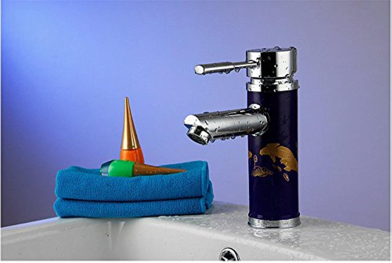 Lalaky Waschtischarmaturen Wasserhahn Waschbecken Spültisch Küchenarmatur Spültischarmatur Spülbecken Mischbatterie Waschtischarmatur Porzellan-Einloch
