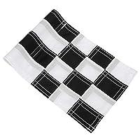 耐紫外線フラグ、チェッカーホールポールカップフラグ、裏庭の屋外の練習(Black and White)