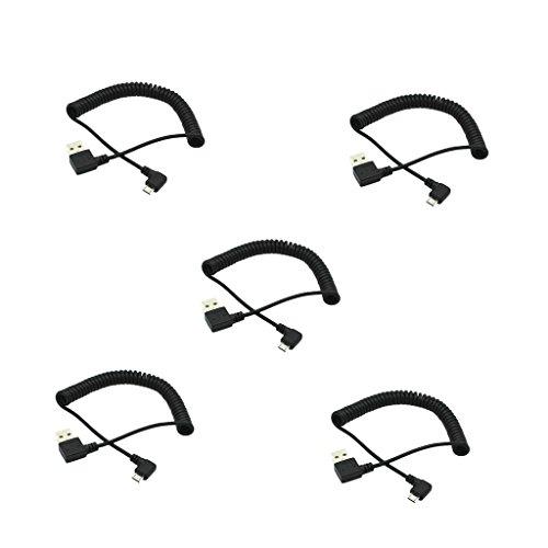 Blesiya USB 2.0a Micro USB Cable Espiral Cargador para móvil Mp3Mp4Bluetooth Altavoz
