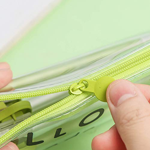 Achicoo Federmäppchen mit süßem Avocado, transparent, PVC, Reißverschluss, Stifttasche, Tasche für Schule und Schreibwaren Hallo da! Avocado