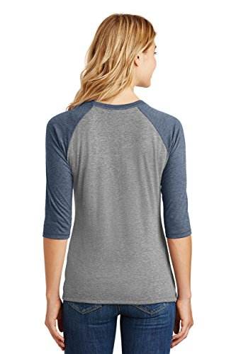 Comical Shirt Ladies Soul of Mermaid Mouth of Sailor Navy Frost/Grey Frost XL