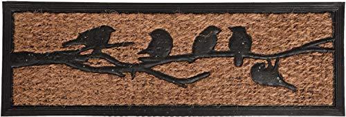 Deurmat vogels op tak rubber/kokosvezel