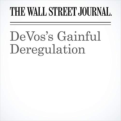 DeVos's Gainful Deregulation copertina