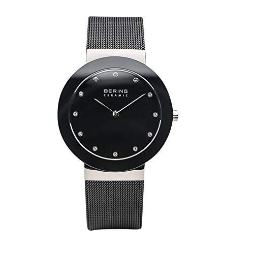 BERING Unisex Erwachsene Analog Quarz Uhr mit Edelstahl Armband 11435-102