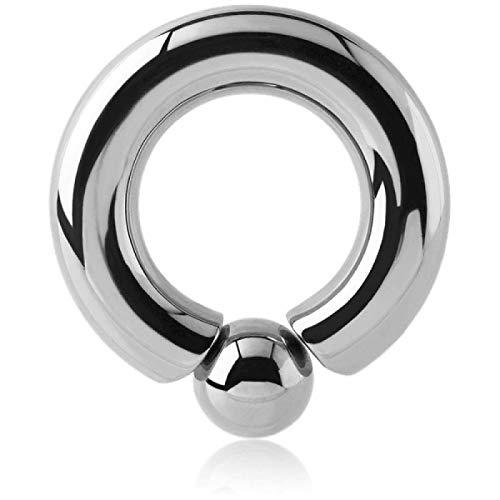 Ring Kugel Stahl Flesh Schraub Picture–Armreif/Schaft 9mm, Durchmesser 14mm, Kugel 12mm