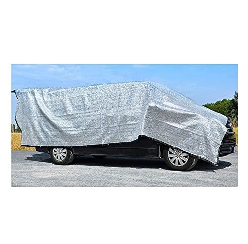 Rosi's Barf-Glück XL Schattennetz Auto für Hunde 4x6 m – 24m² Alu UV Sonnenschutz Hitzeschutz Haube Auto – Alunetz Reduziert Hitze im Auto