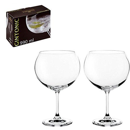 DONREGALOWEB Set de 2 Copas de Cristal de Bohemia para Gin-Tonic y...