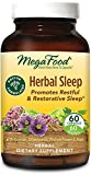 MegaFood, Herbal Sleep, Doctor Recommended and Made with Organic Ashwagandha, Hops and Passion Flower, Vegetarian, 60 Capsules