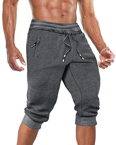 BIYLACLESEN Sweat Shorts for Men Below Knee Pants for Men Hking Pants Mens Convertible Pants Men Cotton Pants for Men Slim Fit Pants Long Shorts Workout
