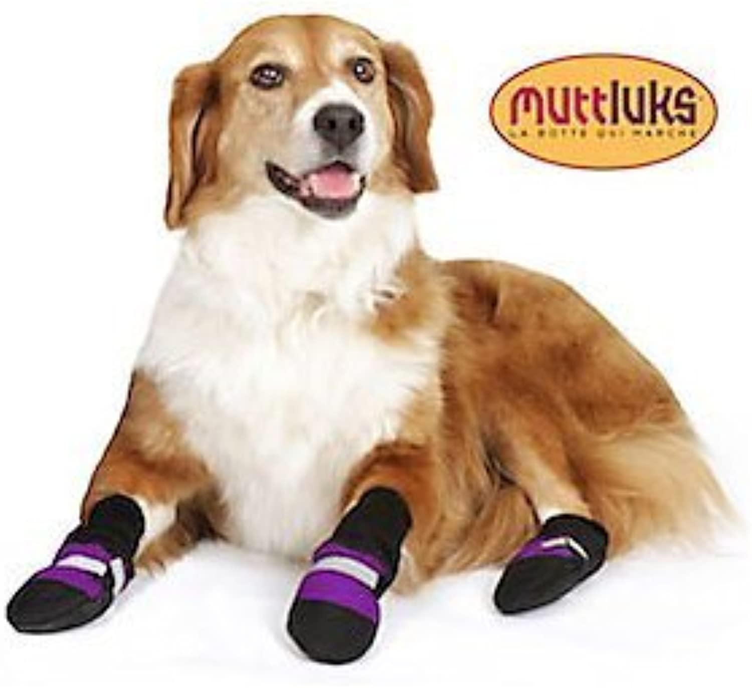 Muttluks Fleece Lined 4.25Inch to 4.75Inch Dog Boots, XLarge, Purple, Set of 4 by A.C. Kerman  Pet Products