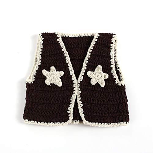 Zinniaya Pasgeboren Baby Fotografie Props Gehaakte Wol Outfits Vest Schoenen Set voor Jongens Meisjes Fotografie Kostuum foto Accessoires