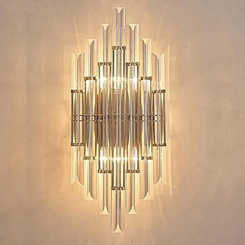 Sconce Wandlamp Heldere Licht Minimalistische RVS Nachtlampje Crystal Wandlamp Indoor Wandlamp Groothandel 23 * 50CM Led Wandlampen