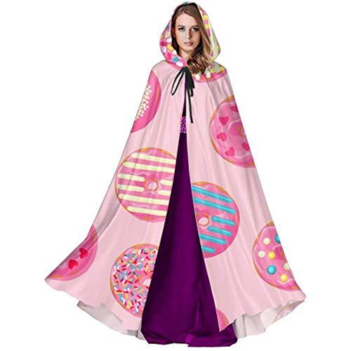 Zome Lag Vampir kostuum, pet met capuchon, hekmagische omhanging, volwassenen luxe omhanging, schattige lekkere chocolade dessert suiker donut dames capuchon capuchon omhanging