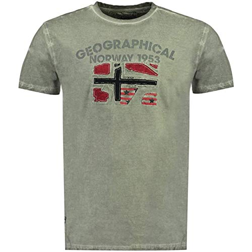 Geographical Norway JOTZ Men - Camiseta De Algodón para Hombre - Camisetas Clasico Logo Graphic - Modelo Manga Corta - Cuello Redondo Regular Fit - Regalo Original para Hombre