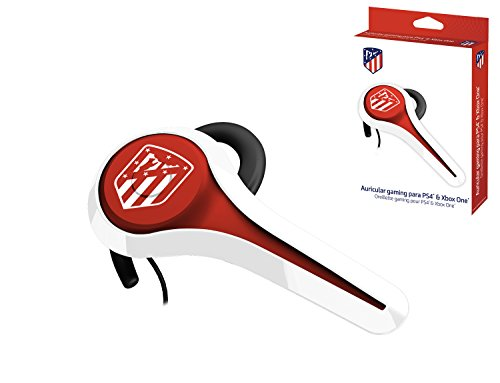 Subsonic - Auricular Gaming y Kit peatón Licencia Oficial ATM Atlético de Madrid Compatible Playstation 4 - PS4 Pro - PS4 Slim - Xbox One - PS3 - Smartphone - Tableta - iPhone 4 - iPhone 5 iPhone 6
