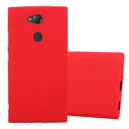 Cadorabo Funda para Sony Xperia XA2 en Frost Rojo - Cubierta Proteccíon de Silicona TPU Delgada e Flexible con Antichoque - Gel Case Cover Carcasa Ligera