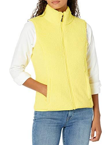 Amazon Essentials Polar Fleece Lined Sherpa Vest Outerwear-Vests, Amarillo Brillante, M