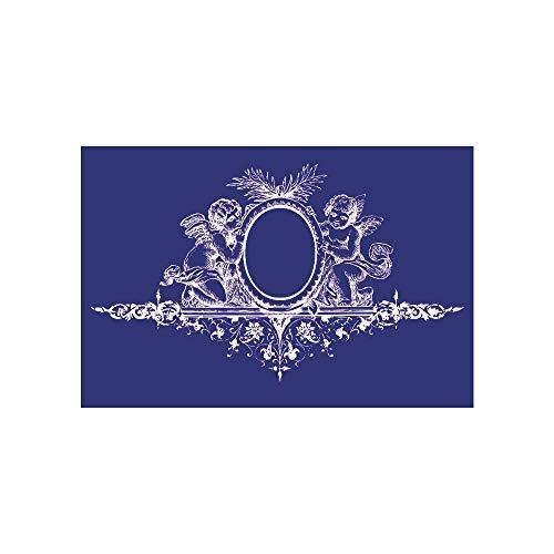 Rayher Schablone Engel mit Ornament, DIN A5, Gummi, Blau, 2,6 x 1,61 x 0,02 cm