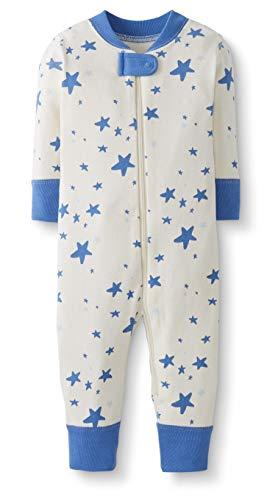 Moon and Back by Hanna Andersson Pyjama sans pied en coton bio pour tout-petits, bébés, bleu, 3 ans (87-97 CM)