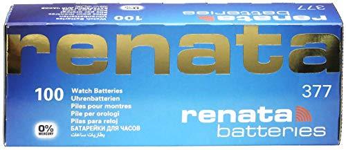 Renata 377 SR626SW 1,55V Uhrenbatterie (Silberoxidbatterie), 10 Stück