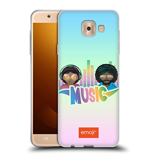 Head Case Designs Oficial Emoji Amor Música Carcasa de Gel de Silicona Compatible con Samsung Galaxy J7 MAX