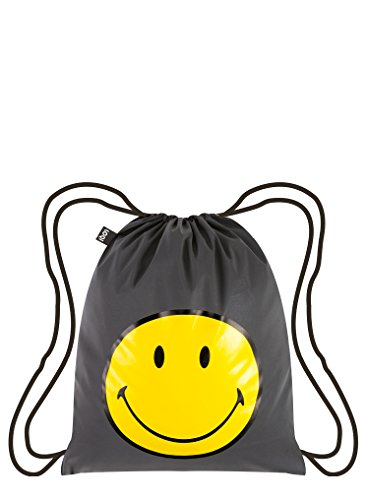 LOQI Artist Reflective Smiley Backpack Rucksack, 44 cm, 10 liters, Mehrfarbig (Multicolour)