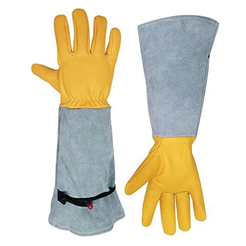 BOTINDO Gardening Gloves for Women/Men,Long Thorn Proof Garden Gloves for Rose Pruning