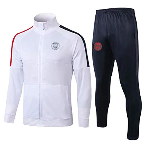 QZZQ Sǎint-Germǎin Fútbol para Hombre Traje de Entrenamiento de fútbol Jersey, Chaqueta de Manga Larga Trajes de Manga Larga Top + Pantalones, Juego competitivo para estu M