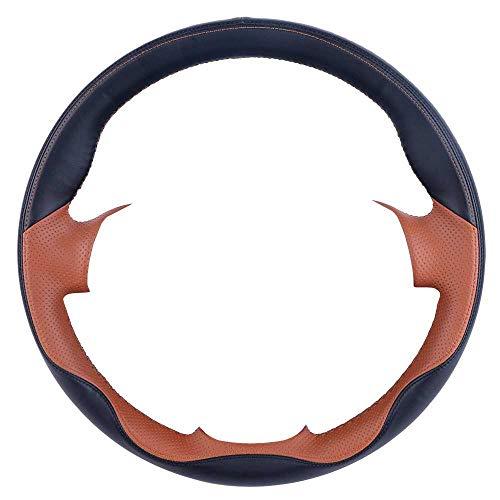 SAXTZDS Cubierta de Volante de Cuero PU Cosida a Mano, Apta para Nissan Almera N16 Pathfinder Primera XTrail 2001-2006