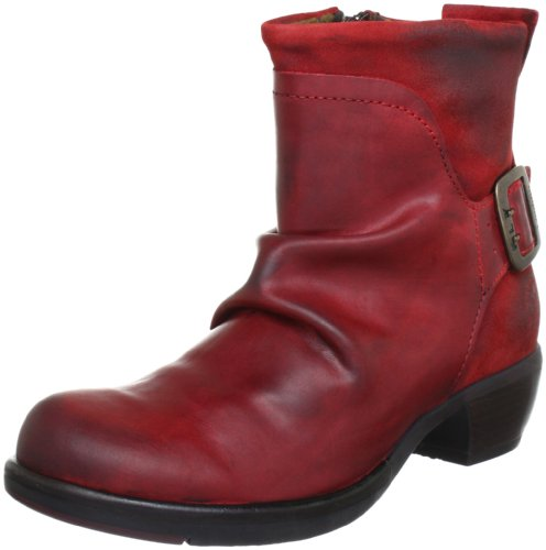 FLY London Mel P141633, Damen Biker Boots, Rot (Red 006), 39 EU (6 UK)