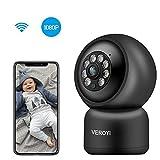 Cámara de Seguridad para el hogar Veroyi, cámara IP de vigilancia WiFi 1080P con Audio de 2 vías, detección de Movimiento, visión Nocturna a Todo Color Compatible con teléfonos iOS y Android