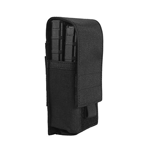 OneTigris Closed Top Single M4 Mag Pouch DD01 Holds 2 Mags (Black)