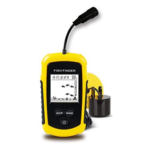 Blanchel cableado buscador de Pescado Sonar Sensor Transductor 100M Sonda portátil LCD Alarma de Pesca para la Pesca de Hielo