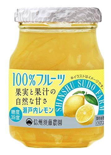 スドージャム 100% フルーツ瀬戸内レモンマーマレード 185g ×3個