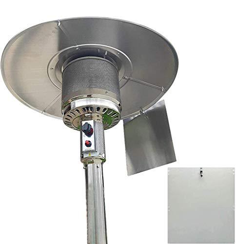 MBEN Heizpilz Reflektor Schild, Easy zusammenbauen Energie sparen Heizung Schutzschild Wärme Fokussierung Reflektor für Runde Erdgas und Propan Terrassenstrahler,1PCS