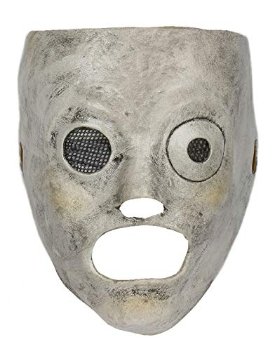 Corey Taylor Mask Cosplay Costume Accessories for Adult Halloween Latex Silver