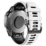 ANBEST Correa de Silicona Compatible con la Pulsera Fenix 6X, Pulsera de Repuesto de 26 mm con Liberación Rápida para Reloj Inteligente Fenix 5X/5X Plus/Fenix 6X Pro/Fenix 3/Fenix 3HR