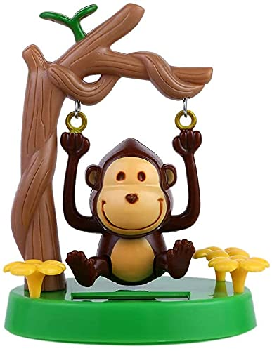 Marsrut Solar Powered Dancing Animal, Solar Swing Monkey Swinging Animated Bobble Dancer Toy Car Decor Kids Toys Gift for Office Car Supplies Decoration