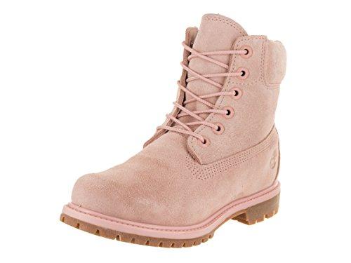 Timberland 10361 6 in Premium FTB, Damen Stiefel, Light Pink Nubuck/Metallic Collar, 40 EU